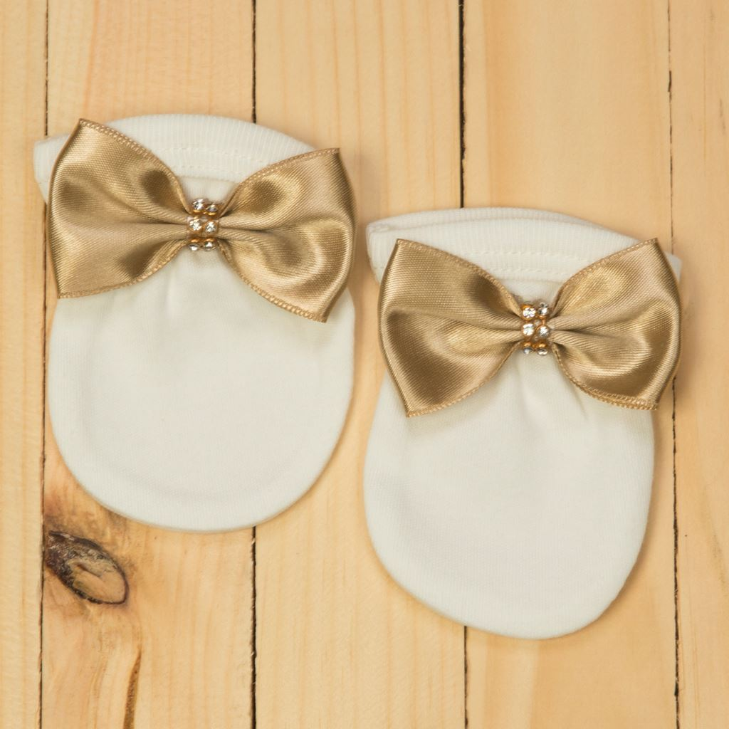 Mittens- 3pcs Golden Romper Set for Baby Girls -lilchamps