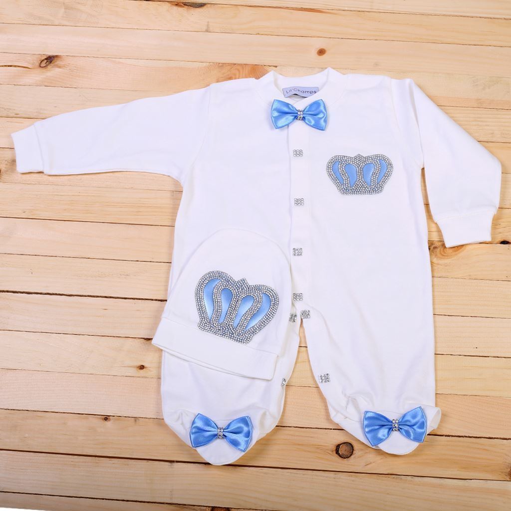 Romper - 3 Pieces Romper & Wrapping Sheet Set for Baby Boys-lilchamps
