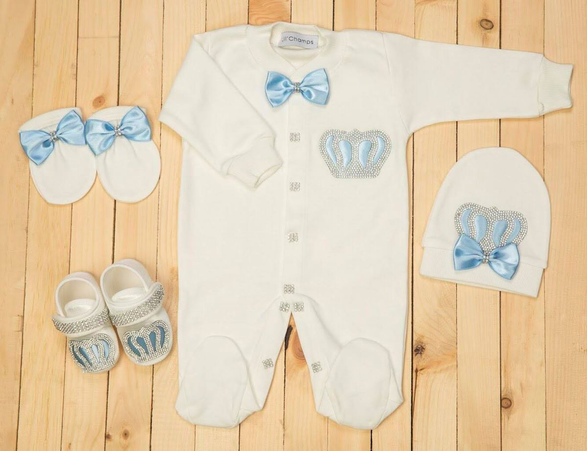 5 Pieces Romper & Wrapping Sheet set for Baby Girls-Lilchamps