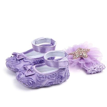 New beautiful baby shoes and hairband Set-Lilchamps