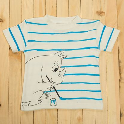 Rhino Style Graphic Half-Sleeve T-Shirt-lilchamps