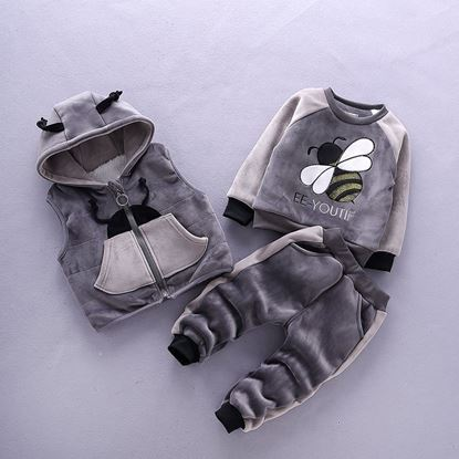Grey-Winter Faux Fur sets-lilchamps