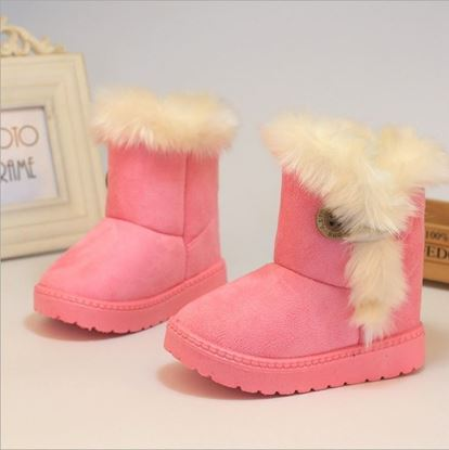 Pink Fur Shoes for Girls -Lilchamps