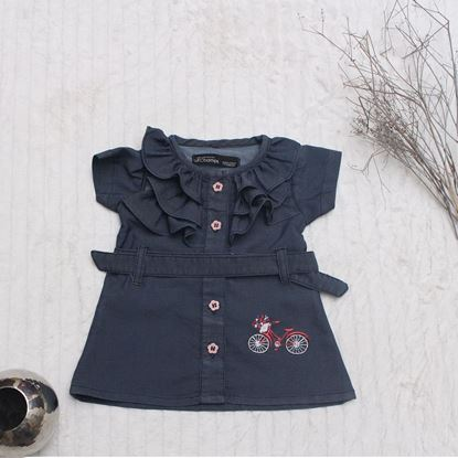 Denim Frock for Girls-Lilchamps