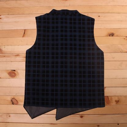 Blue and black waistcoat for Boys-Back-Lilchamps