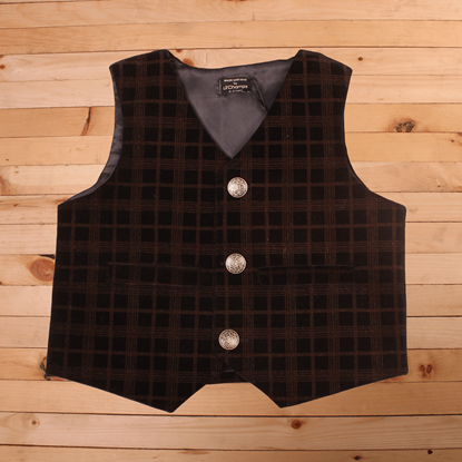 Brown and Black waistcoat for Baby Boys-Lilchamps