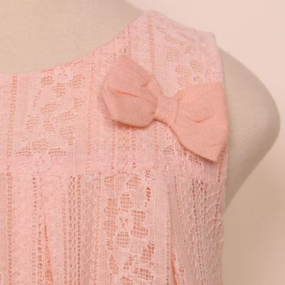 Floral Peach net top for baby girls-Close Up-Lilchamps
