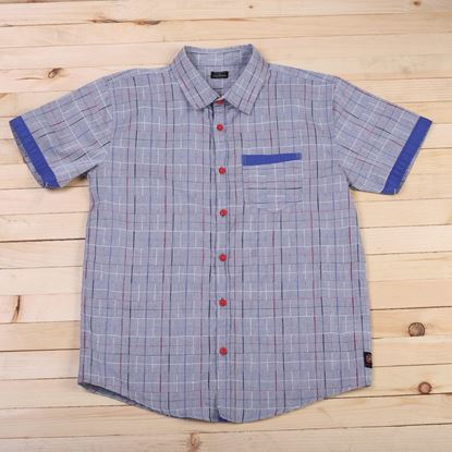 Grey Multi Lines Shirt for boys - lilchamps