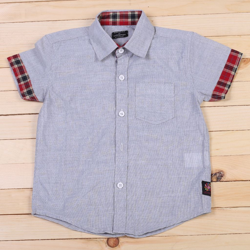 Light Grey Shirt for baby boy-lilchamps