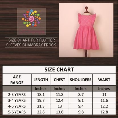 Chambray Frock for Baby Girls-Size Chart-Lilchamps