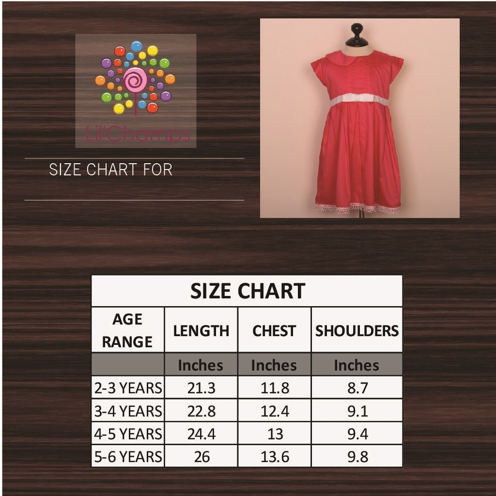candy pink dress for girls-Size Chart-lilchamp's
