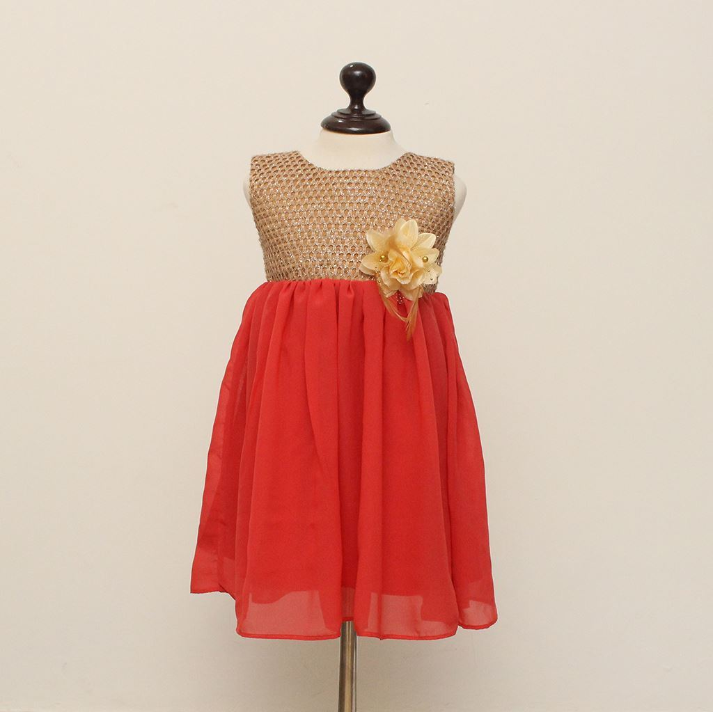 Girl's frock in Chiffon-Lilchamps