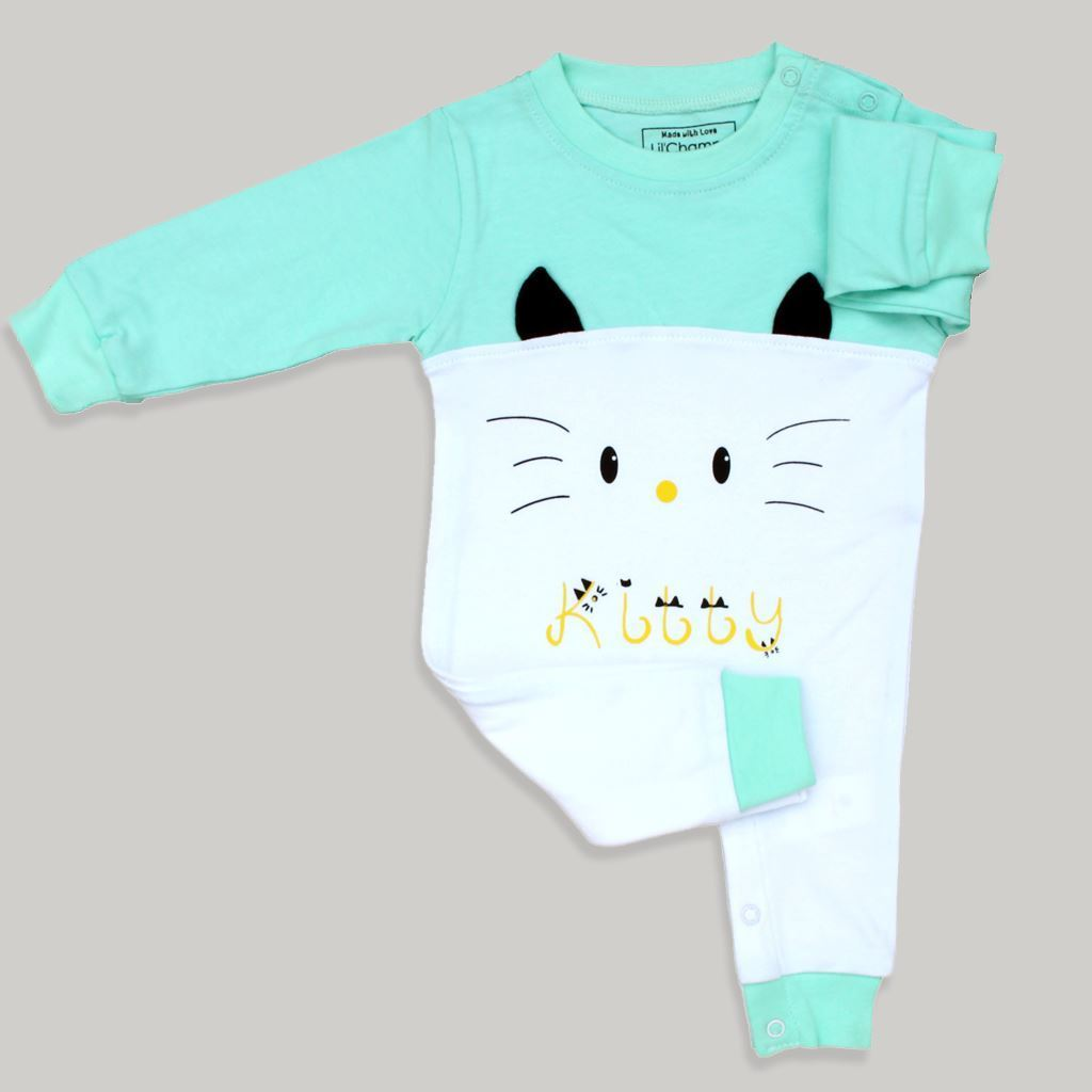 Aqua-Kitty Romper Infant Unisex