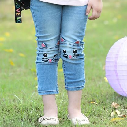Kitty Denim Jeans For girls
