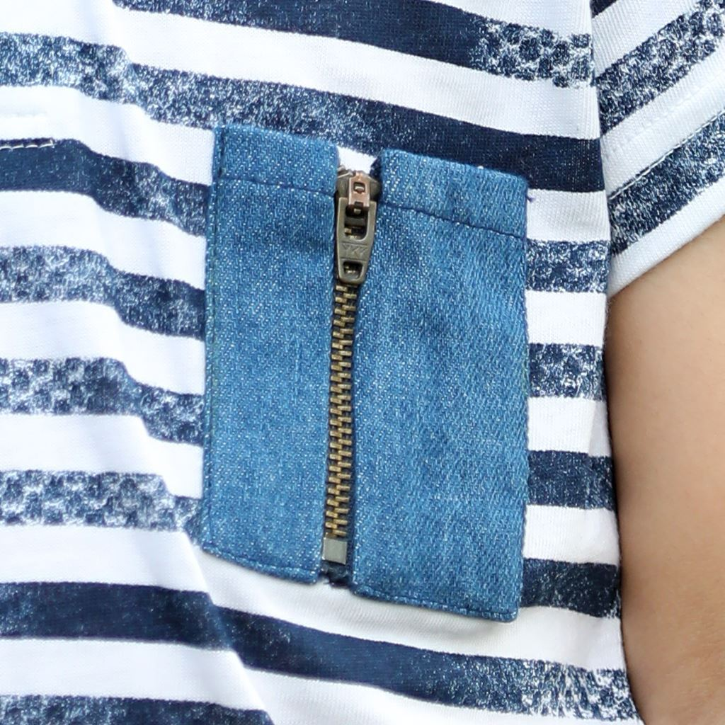 Denim Pocket and Collar Polo