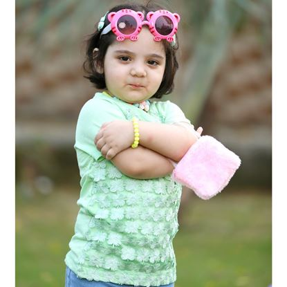 Lace T-Shirt for Girls-Green