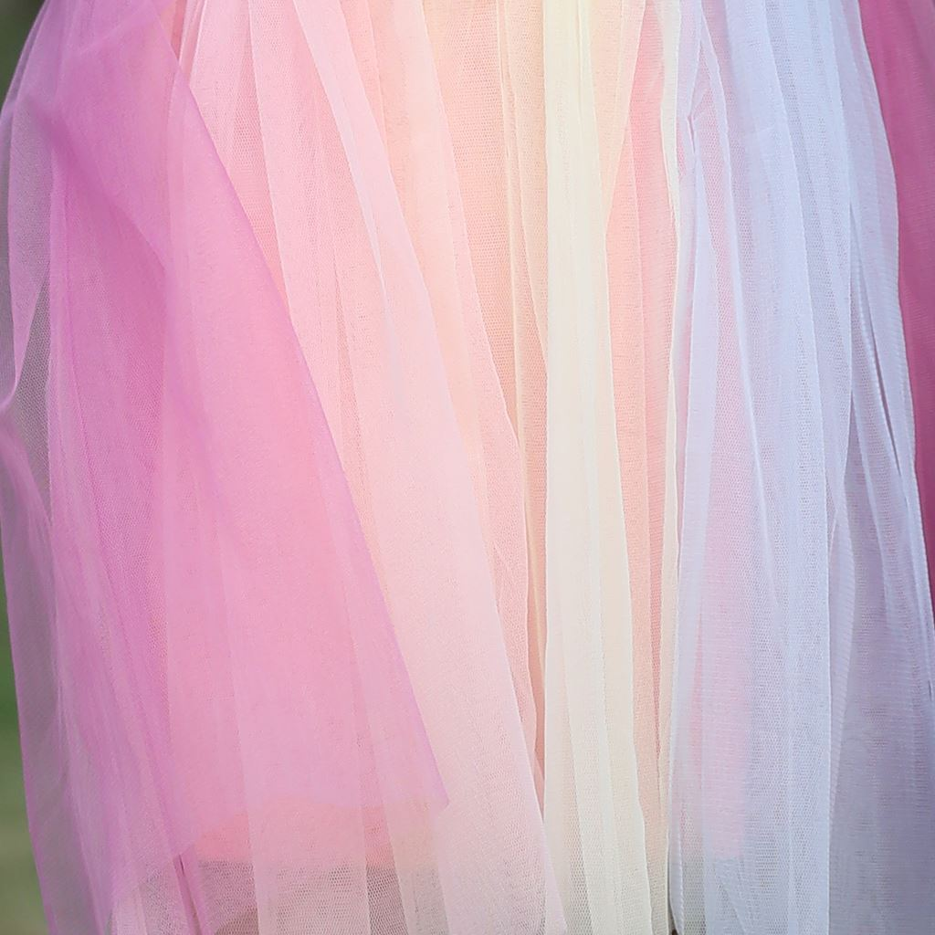 Unicorn Frock with Multi Color Net