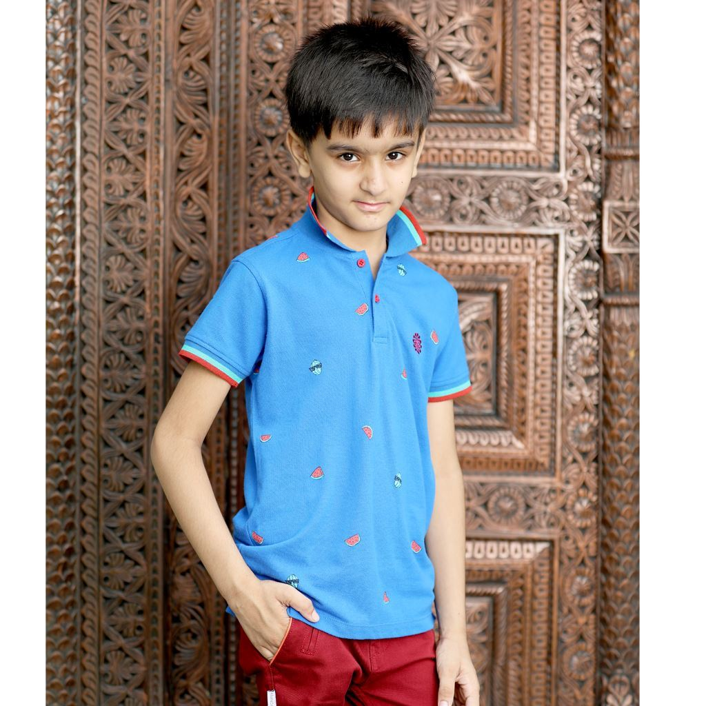 Water Melon Printed Polo Shirt for Boys