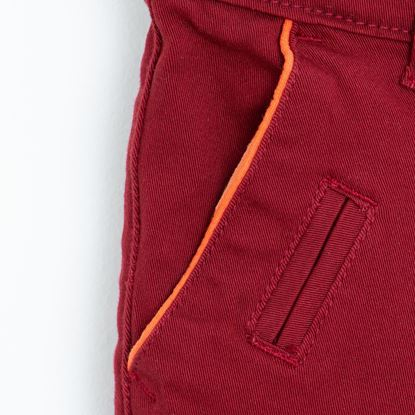Pocket-Maroon Twill Pants