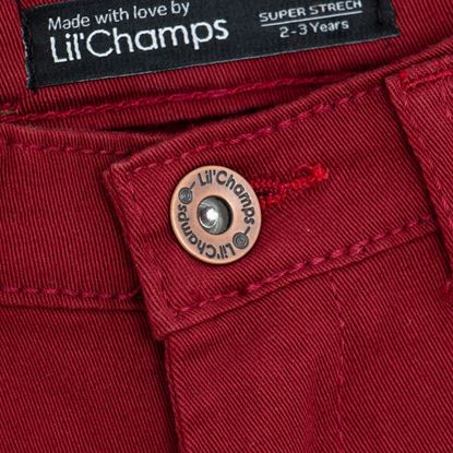 Button-Maroon Twill Pants