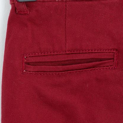 Back Pocket-Maroon Twill Pants