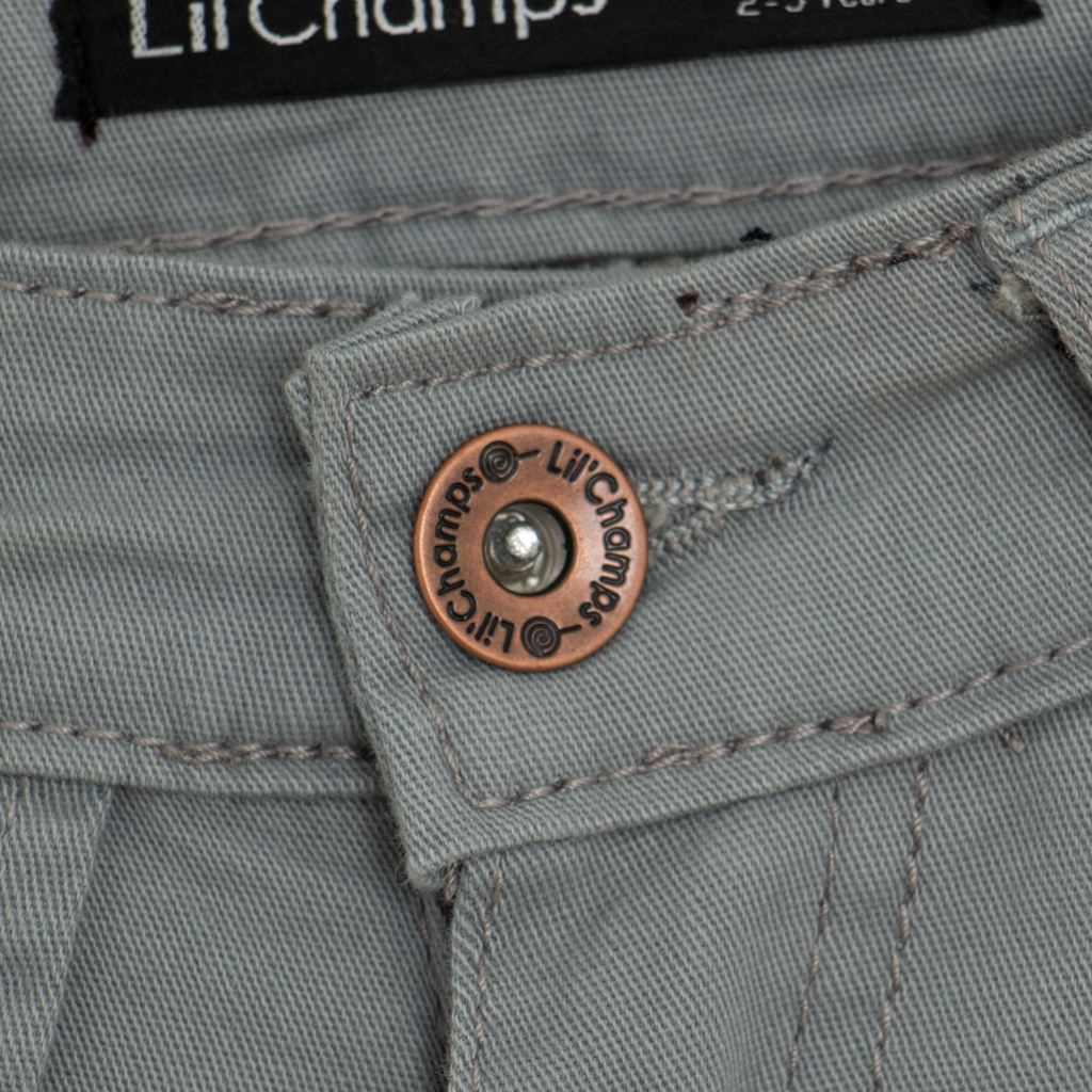 Button-GreyTwill Pants