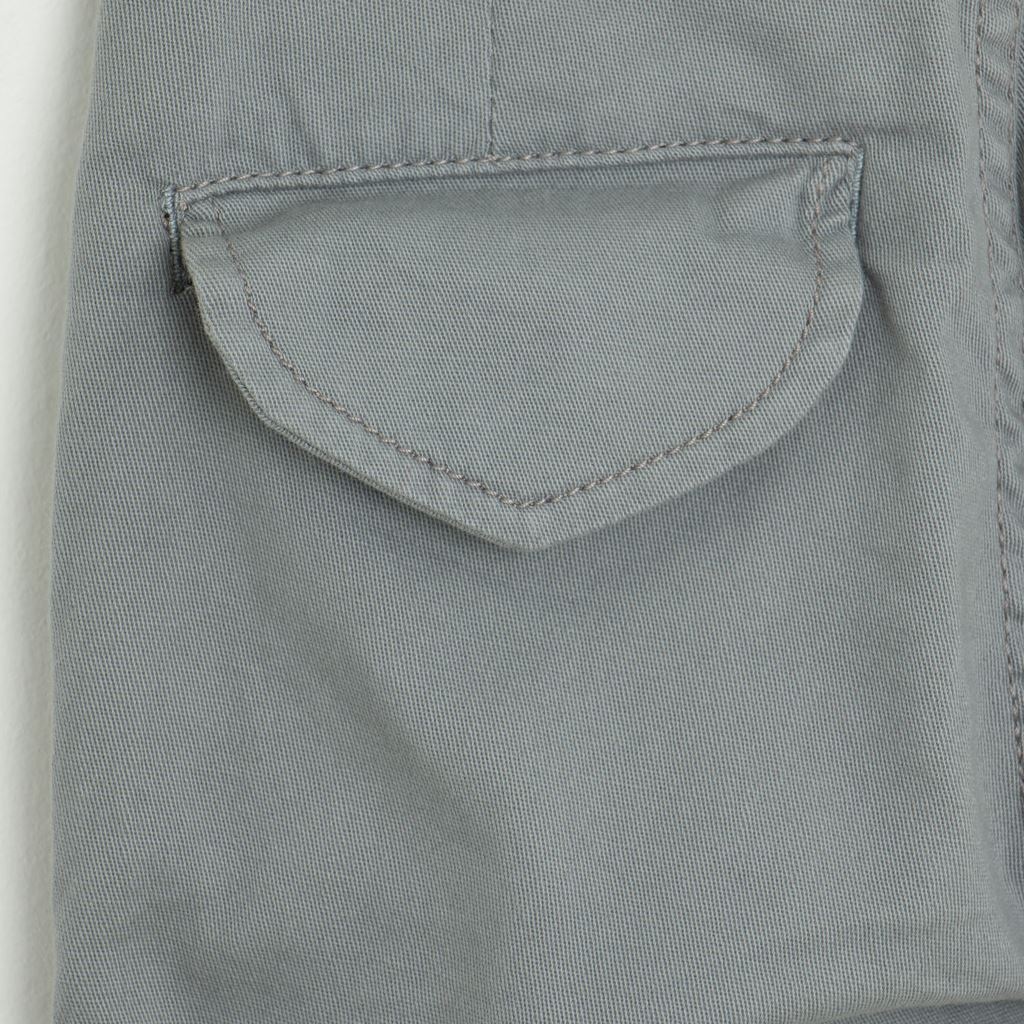 Back Pocket-GreyTwill Pants