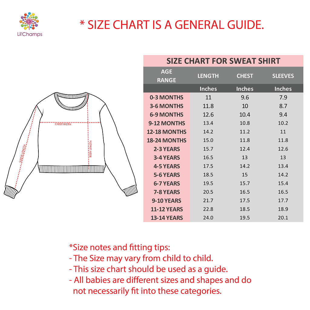 Size guide -Lilchamps