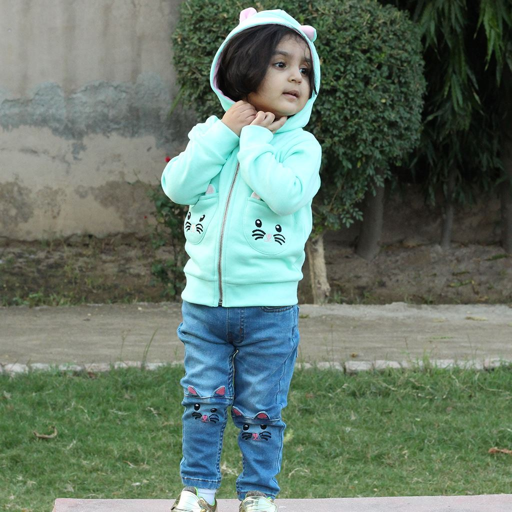 cute kitty hoodie for girls by lilchamps