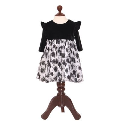velvet party wear fairy frock for girls by lilchamps