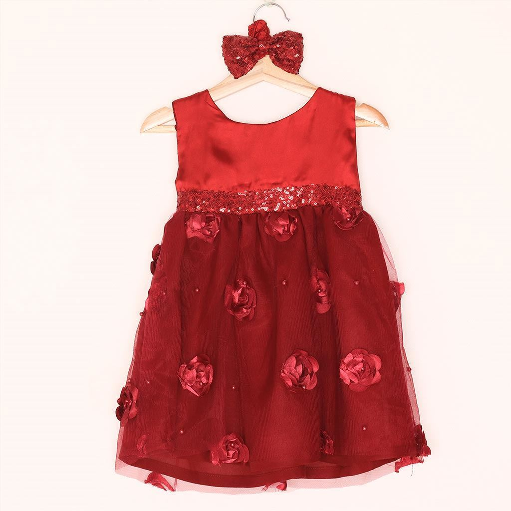 fairy frock for girls in red by lilchamp's