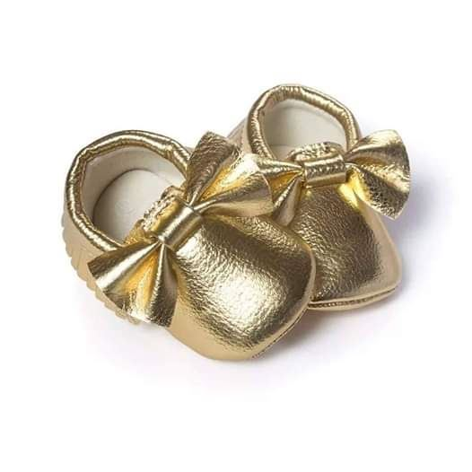 Golden Formal shoes for baby girls by lilchamp's