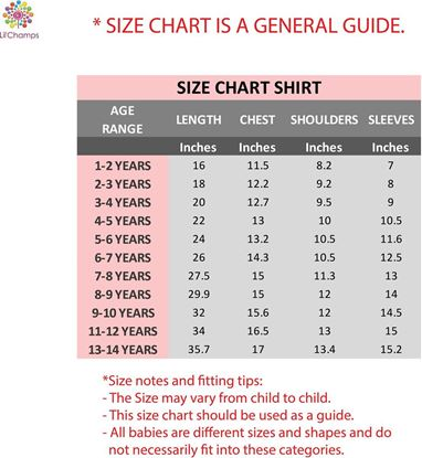 size chart by lilchamps