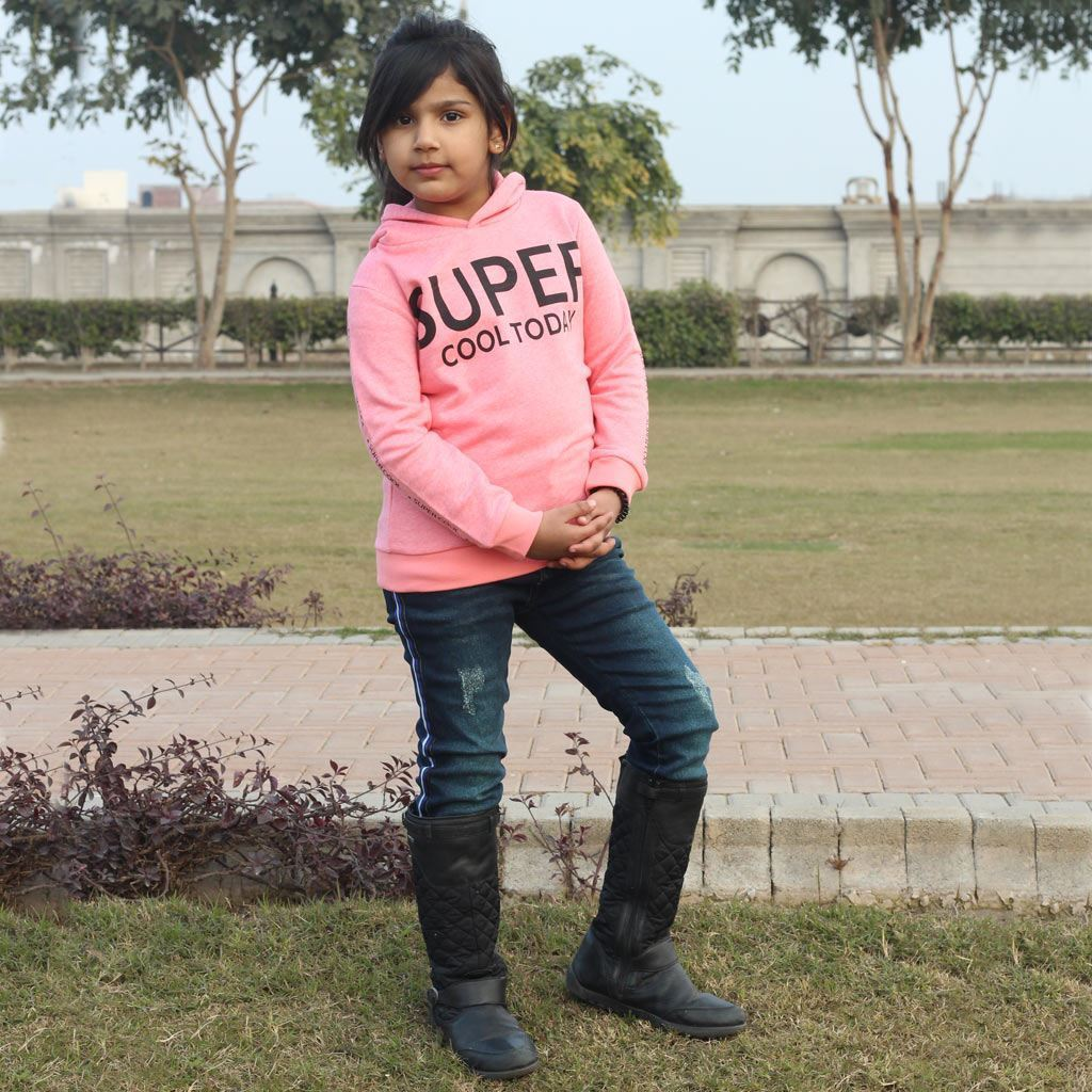 Pullover Fleece hoodie for girls by lilchamps