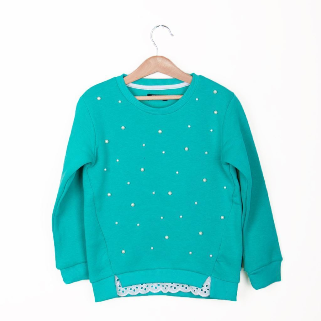 Beads work Sweat Shirt-Front-Lilchamps