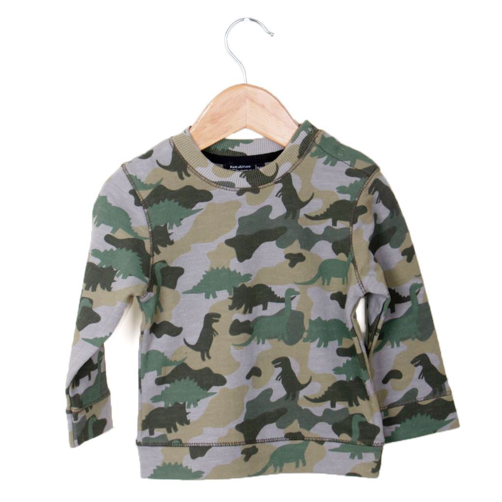 Camouflage sweat shirt for boys-lilchamps