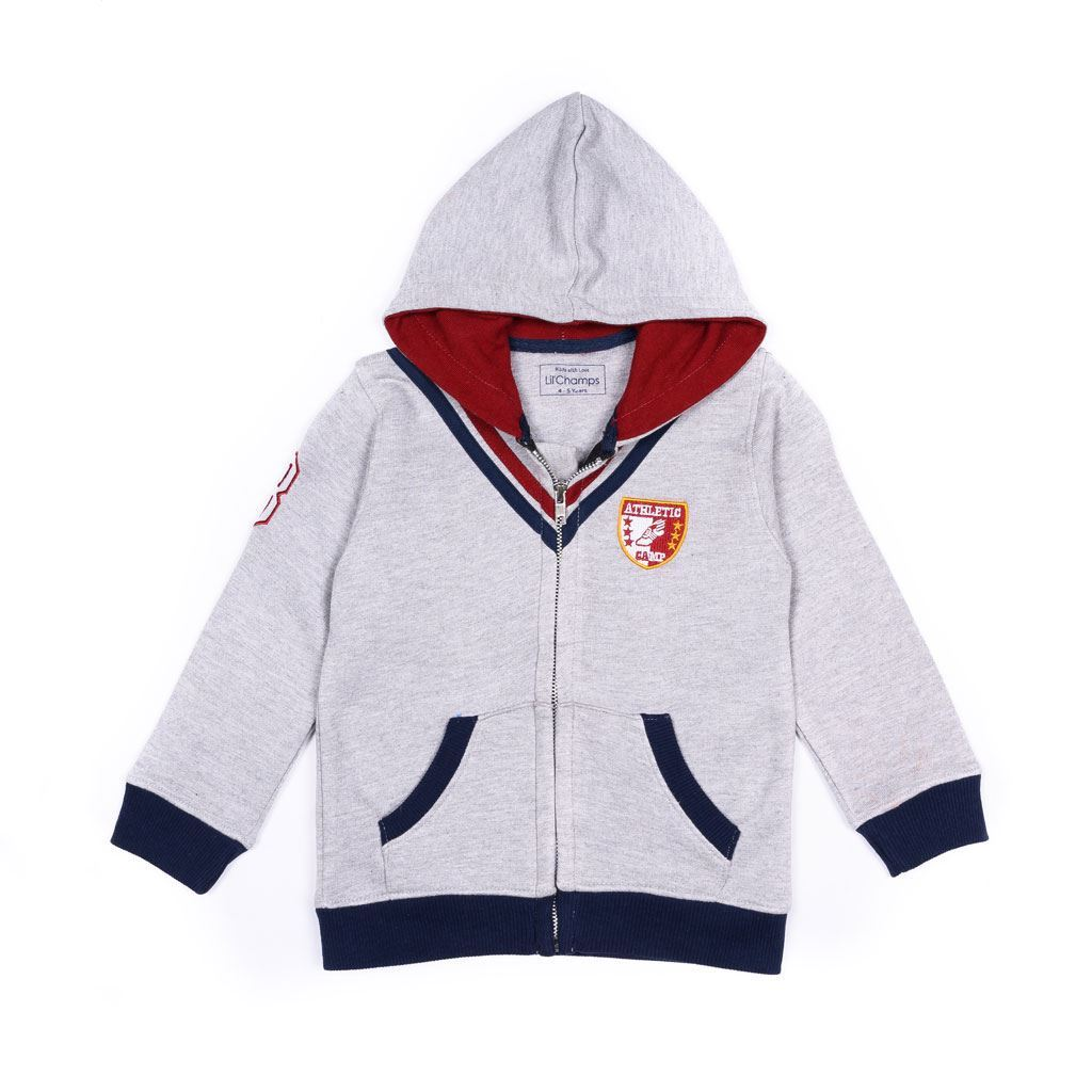 grey hoodie for boys by lilchamps