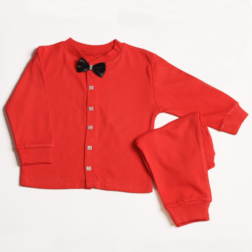 Two Pieces Set For Infants-Red