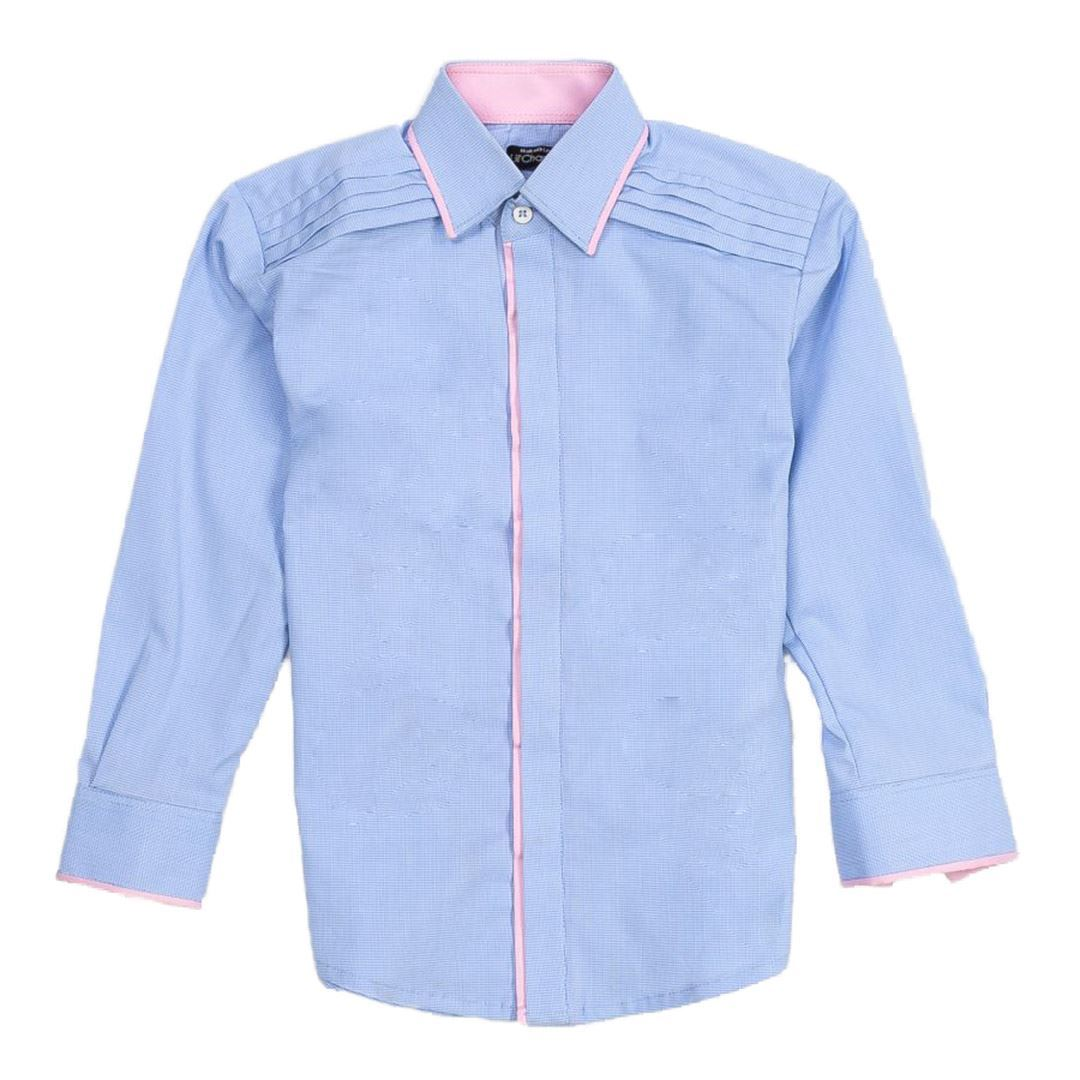 Casual Chambrey shirt for boys by lilchamps