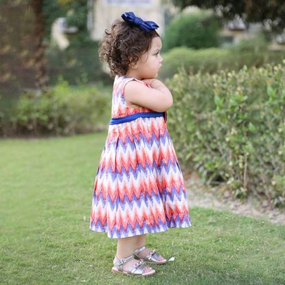 Aztec printed frock fro girls-lilchamps