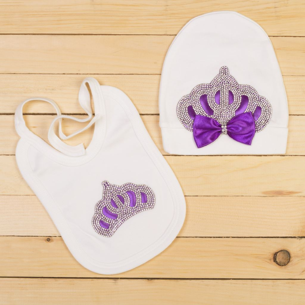 Purple-bibs for infants by lilchamps