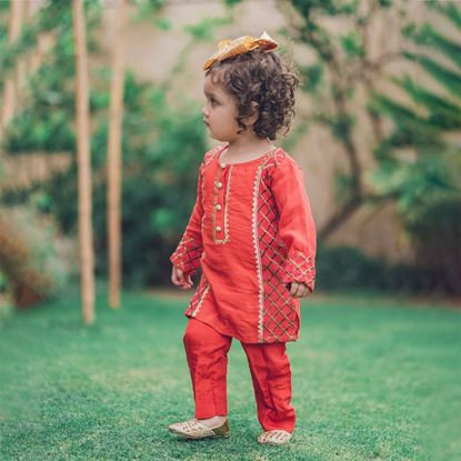 ethnic shirt trouser set for girls by lilchamps