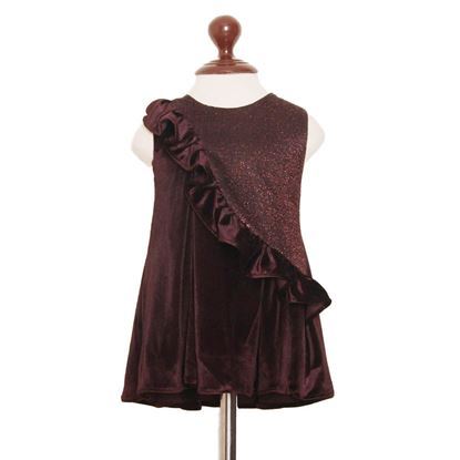 Micro velvet frock for girls by lilchamps
